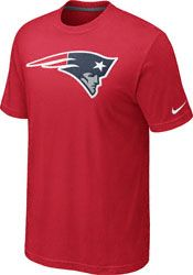 New England Patriots - Red Nike Oversized Logo T-Shirt