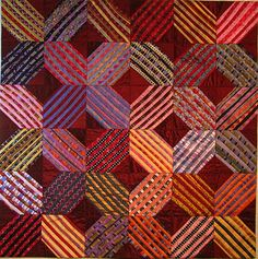 Crossroads - made from a pile of silk ties