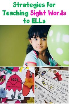 Are you looking for fun ideas to teach sight word you esl students? Learn 5 strategies to use with your class or small group. English Language Learners, Teaching Language Arts, Spanish Language Learning, Vocabulary Activities, Literacy Skills, Listening Activities, Spanish Activities, Preschool Worksheets, Classroom Activities