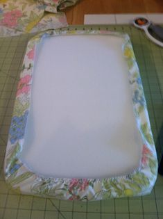 fitted sheet for doll bed  (my results from tutorial and personal updates)