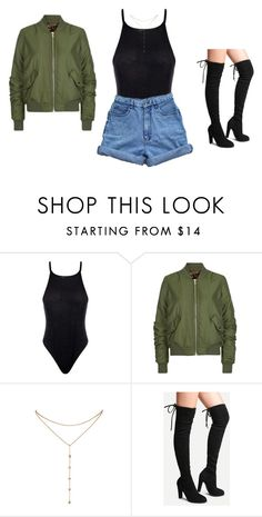 """""""outfit"""" by sweetswagger ❤ liked on Polyvore featuring Boohoo, Topshop, GUESS by Marciano and Bill Blass"""