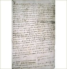 A letter from Queen Katherine Howard to her lover, the charismatic but dangerous Thomas Culpepper. Katherine requested the block be brought to her apartments in the Tower so that she could practice her execution the night before. Los Tudor, Tudor Era, Tudor Style, Tudor History, British History, Ancient History, Wives Of Henry Viii, King Henry Viii, Anne Of Cleves