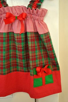 Christmas dress pattern babies and toddlers with present pockets more