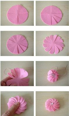 Paper Flower Tutorial Dyi Crafts Flower Making Handicraft Teacher Gifts Paper Flowers Craft Projects Projects To Try Origami Cloth Flowers, Diy Flowers, Fabric Flowers, Paper Flowers, Flower Diy, Chiffon Flowers, Ribbon Crafts, Flower Crafts, Felt Crafts