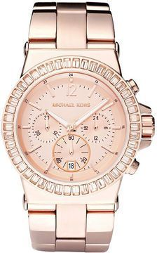 Women s Watches   I found  Michael Kors Baguette-Bezel Watch, Rose Gold  on  Wish, check it efa34c0add