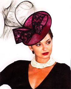 Purple hat and pearls http://www.themadhatter.co.uk/var/ap/31631/425540-2.jpg