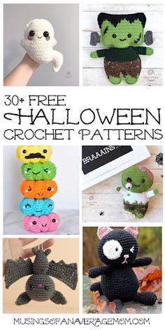 More than 30 Free Halloween Crochet Patterns Crochet Pumpkin Pattern, Halloween Crochet Patterns, Halloween Eyeballs, Halloween Ideas, Crochet Yarn, Free Crochet, Sylvester The Cat, Stuffed Toys Patterns, Yarn Crafts