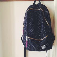 #backpack #herschel #polkadots