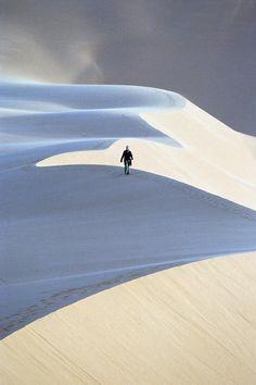 Sand dunes in Fezzan, Libya