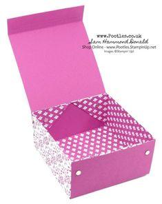 #1 Stampin' Up! Demonstrator Pootles - Extra Huge Fold Flat Box Tutorial using Stampin' Up! Fresh Florals