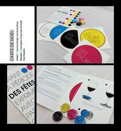 Carte de Noël pour Cyclone Design communications Design Graphique, Cards, Noel, Entertaining, Map