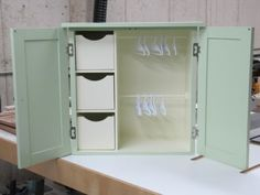 Doll Wardrobe Project: Done! It was a lot of work, but I completed the doll wardrobe in the (Saint) nick of time: I finished applying the final coat of clear coat around on December Here's a summary of my finishi… Girls Furniture, American Girl Furniture, Barbie Furniture, Dollhouse Furniture, Furniture Making, Ag Dolls, Girl Dolls, Barbie Dolls, Barbie Wardrobe