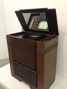Vintage Geek Culture RCA Victor TRK the first commercially available television set, from Vintage Television, Television Set, Tvs, Music Machine, Old Time Radio, Antique Radio, Tv Sets, Home Tv, Phonograph