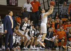 Oklahoma State's Phil Forte III (13) shoots a basket to break Oklahoma State's record for most career 3-pointers during an NCAA college basketball game between Oklahoma State University (OSU) and Arkansas at Gallagher-Iba Arena in Stillwater, Okla., Saturday, Jan. 28, 2017. Photo by Bryan Terry, The Oklahoman