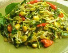 Tumis Bunga Pepaya (Spicy Papaya Flower Stir-fry from Manado - North Sulawesi)