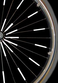 Glow Spokes - Reflective Safety Glow Spokes are reflectors that go onto the spokes of your wheel to give it a novel look.