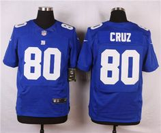 fd03c5ef1 Nike New York Giants  80 Victor Cruz Blue Elite Jersey Nike Nfl