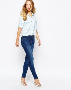 Whistles Classic Skinny Jeans in Mid Wash