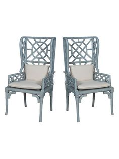 Bamboo Wingback Chairs (Set of 2) by Artistic Home