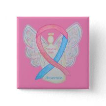 Premature Birth Awareness Angel Ribbon Custom Pin