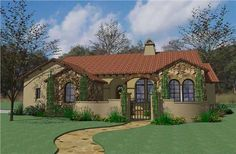 Home Plan The San Saba is a great single story houseplan with 1749 total square feet. Some of the special features of this houseplan include: Authentic Tuscan Style and Details  Glorious Front Courtyard  Covered front and rear porches  Wide open living spaces  12' ceiling in Living/Dining/Foyer  Double WIC's in Master Bath  Walk-in pantry  See thru