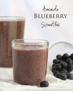 Blueberry Banana Avocado Smoothie~ Delicious AND Paleo!  Pin now, make later!