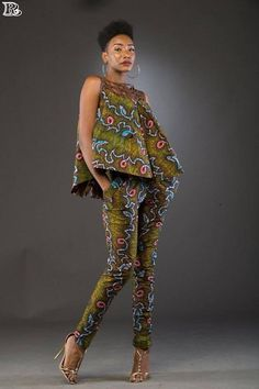 African Ankara Jumpsuit Designs Here we accept Ankara Jumpsuit Designs for this season! We accept anxiously called the New Ankara Jumpsuit designs African Print Dresses, African Print Fashion, Africa Fashion, African Fashion Dresses, African Dress, Fashion Prints, African Print Pants, Ankara Fashion, African Prints