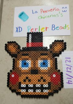Toy Freddy (Five Nights at Freddy's game) -- perler beads by LaPequenaChicana