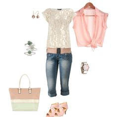 Pink summer, created by jenfell on Polyvore