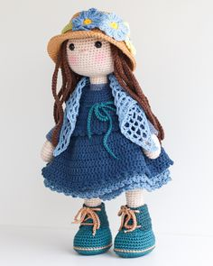 BELLA Crochet Doll - Amigurumi doll - Stuffed doll - Handmade doll - Crochet toy - Handmade toy - Baby Gift