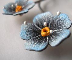 Кожаные цветы в украшениях / Украшения и бижутерия / ВТОРАЯ УЛИЦА