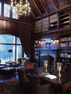 Stunning Home Library Ideas for Your Home. The love of reading is great, home library are awesome. However, the scattered books make the feeling less comfortable and the house a mess. Library Room, Dream Library, Cozy Library, Future Library, Library Table, Library Art, Future Office, Home Library Design, House Design
