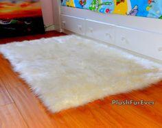 8' x 10' sheepskin shag fur area rug luxury shaggy living room faux fur rug modern contemporary acrylic rugs