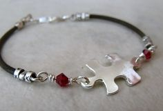 Handmade jewelry - Autism Awareness Bracelet $30. Ten dollars from each purchase is donated to the Autism Society.