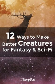 12 Ways to Make Better Creatures for Fantasy & Sci-Fi by muriel Writing Genres, Writing Characters, Fiction Writing, Writing Quotes, Writing Advice, Writing Resources, Writing A Book, Writing Prompts, Story Prompts