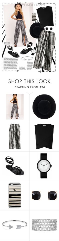 """monochrome"" by ane-ana ❤ liked on Polyvore featuring Missguided, Eugenia Kim, Topshop, Miss Selfridge, Casetify, Humble Chic, Bling Jewelry, monochrome, polyvoreeditorial and polivorefashion"