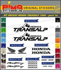 Adesivi Stickers kit HONDA TRANSALP 700V moto di PIMAstickerslab