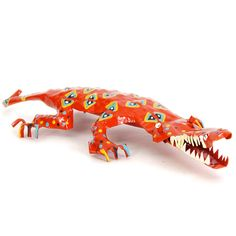 Fab.com | Painted Tin Crocodile