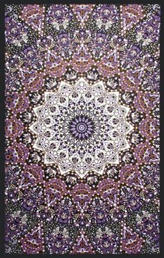 60x90 Indian Star Tapestry Fabric GLOWS in the by FortySevenGems