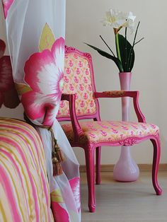 Repaint French chairs in bright colors