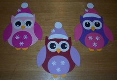 Wintereulen - Fashion and Recipes Winter Crafts For Kids, Paper Crafts For Kids, Winter Kids, Winter Art, Preschool Crafts, Fall Crafts, Diy And Crafts, Christmas Crafts, Christmas Ornaments