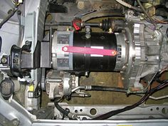 EVConvert: news, links, and an ongoing diary of making an electric car Electric Motor For Car, Electric Car Conversion, Electric Power, Electric Car Kit, Affordable Electric Cars, Bmw X Series, Car Audio Installation, Mechanical Workshop, E Motor
