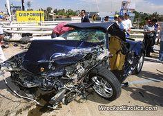 Porsche Boxster crashed in Zapopan, Mexico