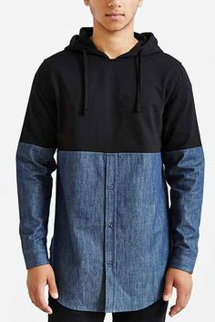 two tone with denim that's different Urban Outfitters