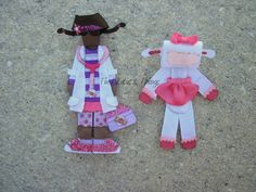 Doc McStuffins and Lambie inspired hair clips. custom order.