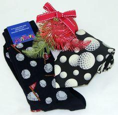 Golf Mens Socks & Necktie Gift Set Novelty Sports Casual Golfer Fashion New #Parquet #Novelty