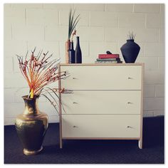 An lovely modern chest of drawers with ample storage space - great for any bedroom. in the Commodes category was listed for on 17 Sep at by Lifespace Homeware in Gauteng Modern Chest Of Drawers, 3 Drawer Chest, Storage Spaces, Bedroom, Personality, Stuff To Buy, Brass, Furniture, Home Decor