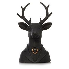 George Home Black Stag Ornament | Home & Garden | George at ASDA