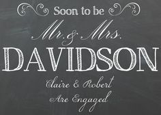 Engagement announcement by Opheliafpg on Etsy