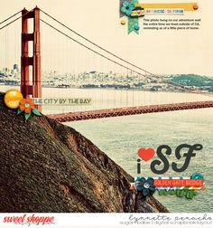 I heart SF digital scrapbook layout by Lynnette Penacho | Featuring San Francisco, California by Amanda Yi & Jady Day Studios & Trifecta 24 - Rambler template by Brook Magee